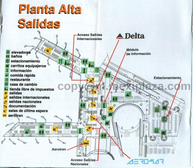 Planta Alta Salidas - AICM - Terminal 2